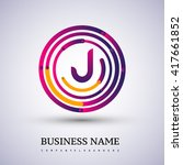 letter j vector logo symbol in... | Shutterstock .eps vector #417661852