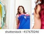 clothing  wardrobe  fashion ... | Shutterstock . vector #417670246