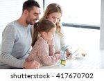 family  parenthood  technology...   Shutterstock . vector #417670702