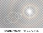 vector transparent sunlight... | Shutterstock .eps vector #417672616