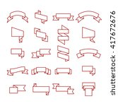 ribbons icon   Shutterstock .eps vector #417672676