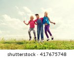 summer  childhood  leisure and... | Shutterstock . vector #417675748
