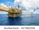 offshore construction platform... | Shutterstock . vector #417682246