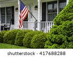 front porch of white colonial... | Shutterstock . vector #417688288
