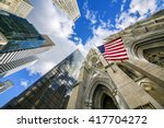 Flag of the united states on st ...