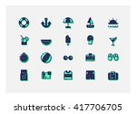 summer icon set vector. | Shutterstock .eps vector #417706705
