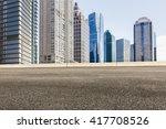 asphalt road in lujiazui... | Shutterstock . vector #417708526