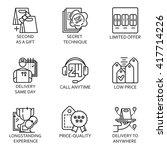 vector set icon business   Shutterstock .eps vector #417714226
