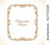 gold decorative vintage frame.... | Shutterstock .eps vector #417715105