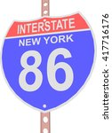 interstate highway 86 road sign ... | Shutterstock .eps vector #417716176