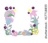 floral frame vector... | Shutterstock .eps vector #417718855