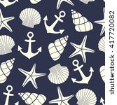 nautical seamless pattern with... | Shutterstock .eps vector #417720082