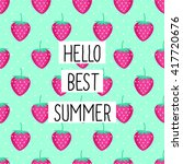 hello best summer card. text on ... | Shutterstock .eps vector #417720676