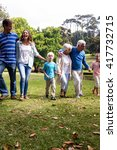 multi generation family walking ... | Shutterstock . vector #417732715