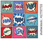 comic bubbles set with... | Shutterstock .eps vector #417737722