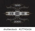 vintage typographic label... | Shutterstock .eps vector #417741616
