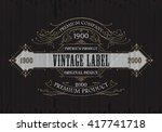 vintage typographic label... | Shutterstock .eps vector #417741718