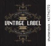 vintage typographic label... | Shutterstock .eps vector #417741772