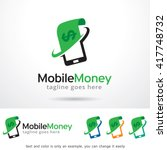 mobile money logo template... | Shutterstock .eps vector #417748732