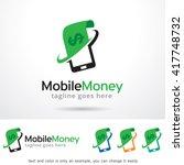 mobile money logo template... | Shutterstock .eps vector #417748732