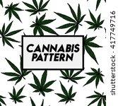 cannabis seamless pattern... | Shutterstock .eps vector #417749716