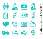medical flat icons  medical... | Shutterstock .eps vector #417750322