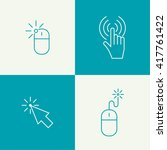 set icon computer mouse pointer ... | Shutterstock .eps vector #417761422