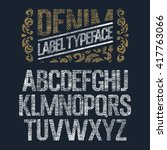 Textured Vintage Font   Denim...