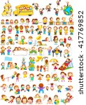 vector illustration of children ... | Shutterstock .eps vector #417769852