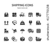 shipping icons. | Shutterstock .eps vector #417770158
