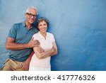 portrait of happy senior man... | Shutterstock . vector #417776326