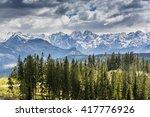 landscape tatra peaks seen in... | Shutterstock . vector #417776926