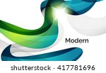 wave light abstract background  ... | Shutterstock .eps vector #417781696