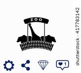 zoo icon. | Shutterstock .eps vector #417783142