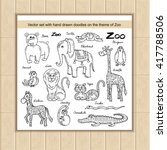 vector set with hand drawn... | Shutterstock .eps vector #417788506