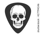 rock fest logo band badge.... | Shutterstock .eps vector #417794146