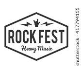 rock fest badge label. for... | Shutterstock .eps vector #417794155
