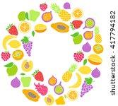 vector set of hand drawn fruit... | Shutterstock .eps vector #417794182