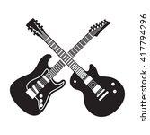rock fest badge label. for...   Shutterstock .eps vector #417794296