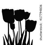 black vector silhouette of... | Shutterstock .eps vector #417794836