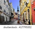old town of tallinn. tallinn ... | Shutterstock . vector #417795352