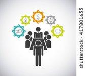 teamwork business design  | Shutterstock .eps vector #417801655
