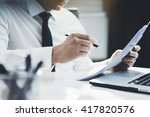 close up of professional... | Shutterstock . vector #417820576