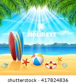 summer holiday background | Shutterstock .eps vector #417824836