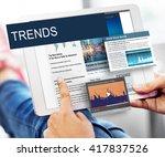 update trends report news flash ...   Shutterstock . vector #417837526