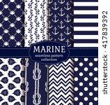 set of marine and nautical... | Shutterstock .eps vector #417839392