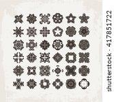 set of ornate mandala symbols.... | Shutterstock . vector #417851722