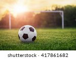 soccer sunset   football in the ... | Shutterstock . vector #417861682
