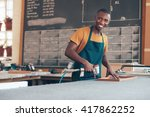 young african craftsman working ... | Shutterstock . vector #417862252