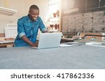 small business owner of african ... | Shutterstock . vector #417862336